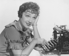 Woman at typewriter